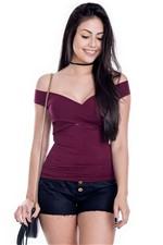 Blusa Básica com Decote Transpassado BL3092 - Kam Bess