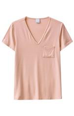 Blusa Botonê com Bolso Malwee Rosa Claro - GG