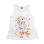 Blusa Branco - Infantil Menina -/ Cetimmeia Malha Blusa Branco - Infantil Menina - / Cetimmeia Malha - Ref:33301-3-10