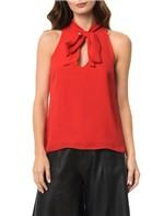 Blusa Calvin Klein Amarração Vermelho - 44