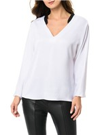 Blusa Calvin Klein Decote V Branco - M