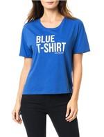 Blusa Calvin Klein Jeans com Estampa Frontal Azul Carbono - P