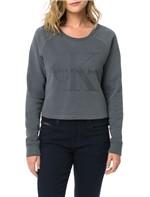 Blusa Calvin Klein Jeans com Estampa Frontal Chumbo - M