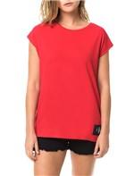 Blusa Calvin Klein Jeans com Etiqueta na Barra Vermelho - P