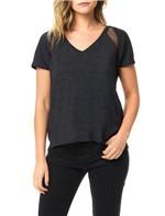 Blusa Calvin Klein Jeans com Recortes em Tela Preto - PP