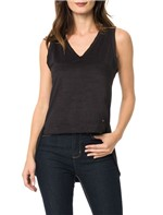 Blusa Calvin Klein Jeans com Recortes Lateral Descolada Preto - P