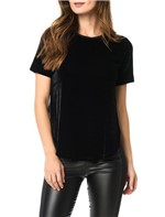 Blusa Calvin Klein Jeans Veludo Transpassada Preto - 40