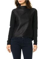 Blusa Calvin Klein Malha Nervurada Preto - M