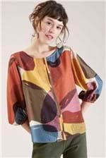 Blusa Cantão Decote Vies Est. Afeto - Multicolorido