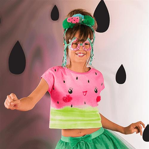 Blusa Carnaval Mini Melância Blusa Carnaval Mini Melancia Rosa Forte/p