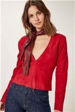 Blusa Chamois Cacharrel Vermelho Cereja - 34