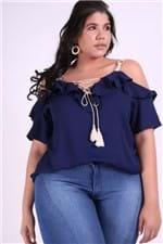 Blusa Ciganinha Alça Cordão Plus Size 52