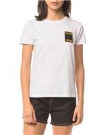 Blusa CKJ Fem Logo Calvin Jeans - Branco 2 - PP