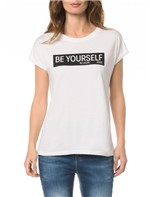 Blusa CKJ Fem MC Be Yourself - PP