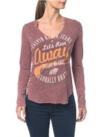 Blusa Ckj Fem Ml Run Away - Bordo - G