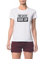 Blusa CKJ Fem Never Give Up Branco 2 - PP