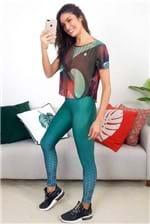 Blusa Colcci Fitness Estampada Incandescente - Multicolorido