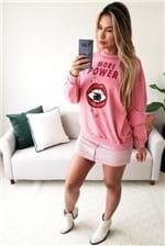 Blusa Colcci Moletom More Power - Rosa