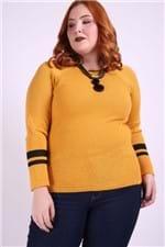 Blusa com Abertura na Lateral Plus Size Amarelo P