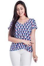 Blusa com Decote e Estampa Geométrica BL3305 - G