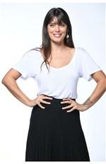 Blusa com Decote V-branco - P