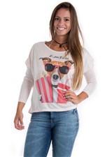 Blusa com Estampa de Cachorro