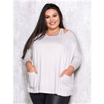 Blusa com Top e Bolso Frontal Plus Size M