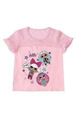 Blusa com Tule L.O.L.® Menina Malwee Kids Rosa Claro - 8