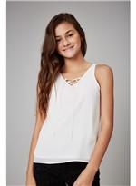 Blusa Crepe Cruzada Branco G