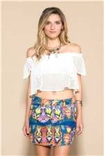 Blusa Cropped Ciganinha Laise Off White - M