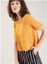 Blusa Cropped Conforto Amarelo P