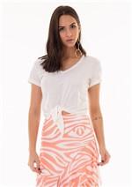 Blusa Cropped Lisa Detalhe Amarração Frente