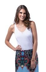 Blusa de Alça Tricot Blusa de Alca Tricot-branco - Xgg