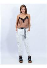 Blusa de Alcinha com Detalhe de Renda P