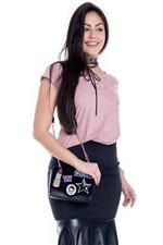 Blusa de Chamoir com Estampa BL3271 - Kam Bess