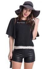 Blusa de Crepe com Renda BL2308 - P