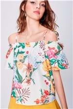 Blusa de Estampa Floral Feminina