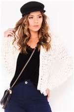 Blusa de Lã Feminina Grossa com Paetê BL2789 - Kam Bess