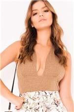 Blusa de Lurex Frente Única BL3274 - Kam Bess