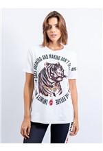 Blusa de Malha com Silk Tigre Caos Breaking And Ma M