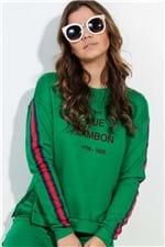 Blusa de Moletom Feminina com Listra ML0658 - Kam Bess