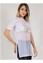 """Blusa de Tule com Silk """"Girl Influencer"""" M"""