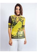 Blusa de Tule com Silk Tigre Collor P