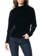 Blusa de Veludo Calvin Klein com Gola Preto - G