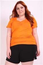 Blusa Decote Princesa Plus Size Amarelo P