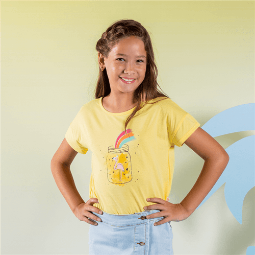 Blusa Divertido Amarelo/10 e 12