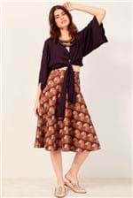 Blusa Dress To Amarração Vinho Chicha - Roxo