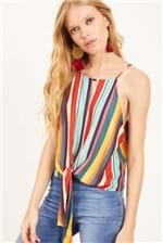 Blusa Dress To Estampa Listra Nômade - Multicolorido