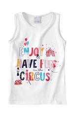 Blusa Estampa Circus Glitter Menina Malwee Kids Branco - 2