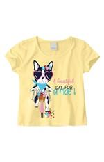 Blusa Estampa Detalhe Relevo & Glitter Menina Malwee Kids Amarelo - 2